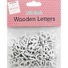 150 Wooden Letters - White image number 1
