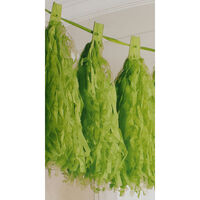 Green Paper Tassel 3m Garland