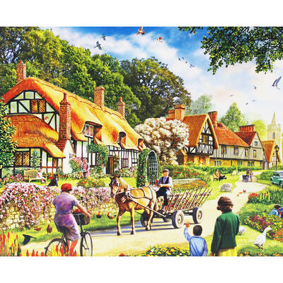 Cottage Bank 1000 Piece Jigsaw Puzzle image number 2