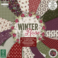 Winter Rose Premium Paper Pad - 8x8 Inch