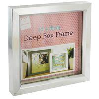 Silver Deep Box Frame: 15cm x 15cm