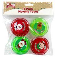 Novelty Festive Yo-Yo: Pack of 4