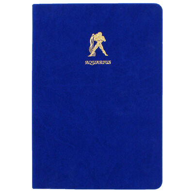 A5 Case Bound PU Zodiac Aquarius Lined Journal image number 1