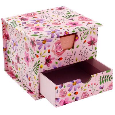 Pink Floral Memo Cube image number 4
