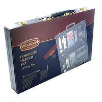 Complete 57 Piece Sketch Set with Carry Case