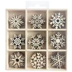 Wooden Snowflake Embellishments Box: Set of 45 image number 1
