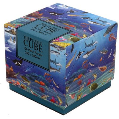 Sea Life 100 Piece Jigsaw Puzzle Cube image number 1