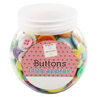 Assorted Jar of Pastel Buttons