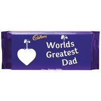 Cadbury Dairy Milk Chocolate Bar 110g - Worlds Greatest Dad