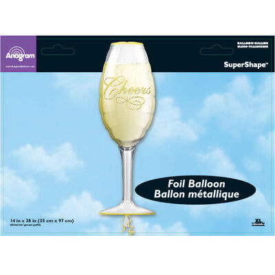38 Inch Champagne Glass Super Shape Helium Balloon image number 2