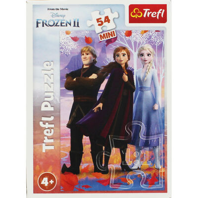 Disney Frozen 2 Anna Elsa and Kristoff Mini 54 Piece Jigsaw Puzzle image number 1