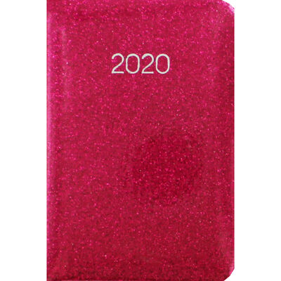 Pink Glitter 2020 Week to View Pocket Diary image number 1