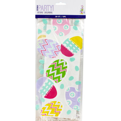 Easter Egg Cello Gift Bags - 20 Pack image number 3