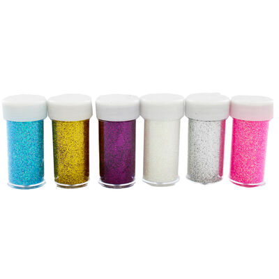 Assorted Glitter Pots - 6 Pack image number 1
