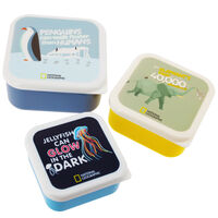 National Geographic Storage Pots: Set of 3