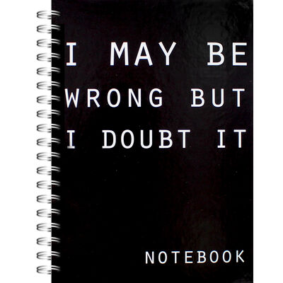 A5 I May Be Wrong Notebook image number 1