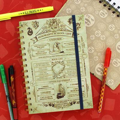 A5 Harry Potter Hogwarts School List Notebook image number 2