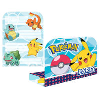 Pokemon Party Invitations: Pack of 8