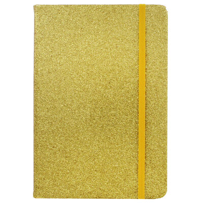 A5 Gold Glitter Cased Lined Journal image number 2