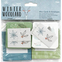 Winter Woodland Mini Cards and Envelopes - 10 Pack