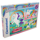 Unicorns 3-in-1 48 Piece Jigsaw Puzzle Set image number 1
