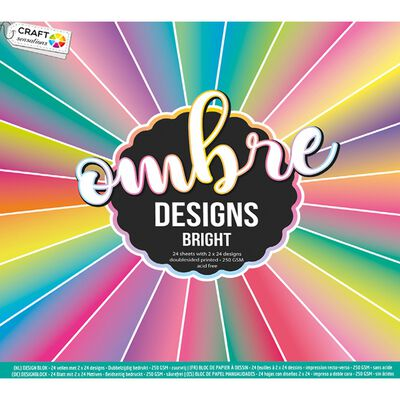 Ombre Designs Paper Pad - 30cm x 30cm - Assorted image number 1