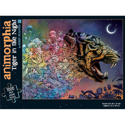 Animorphia Tiger in the Night 1000 Piece Jigsaw Puzzle image number 1