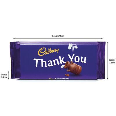 Cadbury Dairy Milk Chocolate Bar 110g - Thank You image number 3