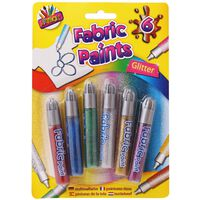 6 Fabric Paints - Assorted