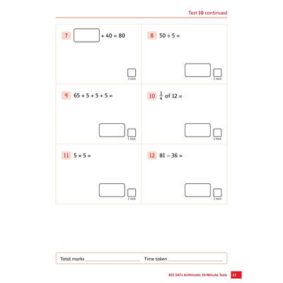 KS1 SATs Arithmetic 10-Minute Tests: Ages 6-7 image number 2