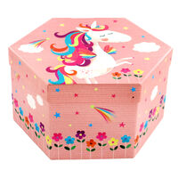 Unicorn 4 Tier Hexagon Art Box