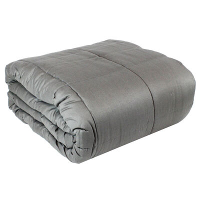 Grey Soft Touch Cotton Weighted Blanket 150 x 200cm - 6.8kg image number 2