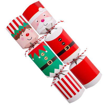 Assorted Mini Christmas Crackers: Pack of 8 image number 4