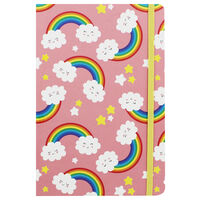 A5 Rainbows Design Lined Case Bound Notebook