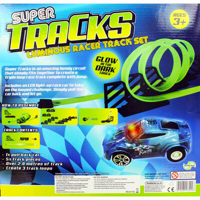 Glow in the Dark Super Tracks Racer Set image number 4