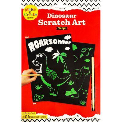 A4 Dinosaur Scratch Art image number 1