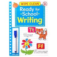 Wipe Clean Ready for School Book With Pen: Age 4