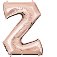34 Inch Rose Gold Letter Z Helium Balloon