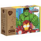 Marvel Superhero Eco-Friendly 48 Piece Jigsaw Puzzle image number 1