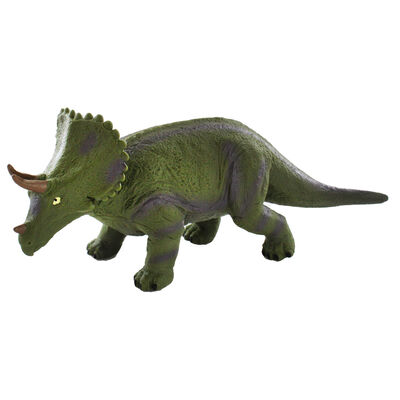 12 Inch Triceratops Soft Dinosaur Figure image number 1
