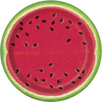 Watermelon Small Paper Plates - 8 Pack