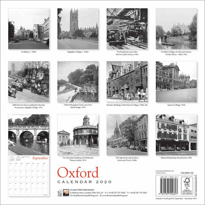Oxford Heritage 2020 Wall Calendar image number 3