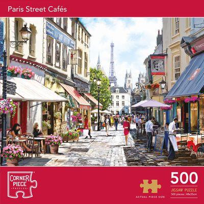 Paris Street Cafés 500 Piece Jigsaw Puzzle image number 1