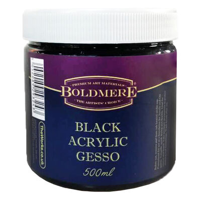 Black Acrylic Gesso 500ml image number 1