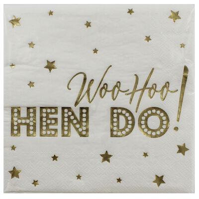 Gold Hen Do Paper Napkins - 16 Pack image number 1