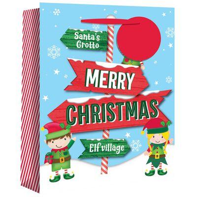 Jumbo Elf Sign Gift Bag image number 1