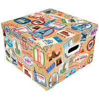 Travel Themed Collapsible Storage Box