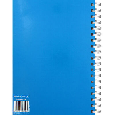 A4 Wiro Plain Blue Lined Notebook image number 3