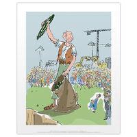 Roald Dahl The BFG Crowd Print
