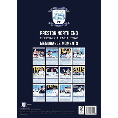 Preston North End Football Club Calendar 2020 image number 3